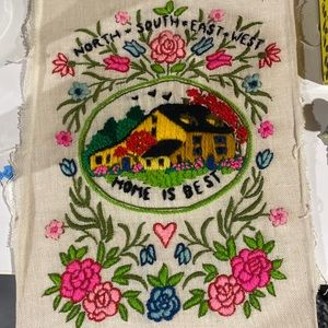 Beautiful embroidered wall art not framed